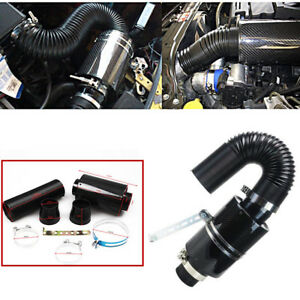 Filter Carbon Fiber Car Induction Cold Air Intake System Caliber Of Inlet 70mm