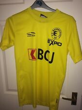 FC BASSECOURT FEEL FREE MENS XS YELLOW SHORT SLEEVED FOOTBALL SHIRT (VG COND)