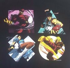 CAPCOM Street Fighter Play Station 2015 SCEA T-Shirt Size Large slim fit