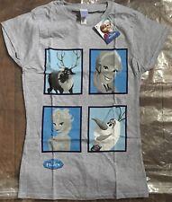 Disney's Frozen Ladies Small Grey T Shirt
