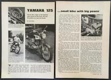 1969 Yamaha 125 Street Scrambler YAS1 Motorcycle Test Report Review