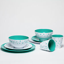 Barel Shooting Stars 8 Piece Melamine Dinner Set Green - Tumblers Bowls & Plates