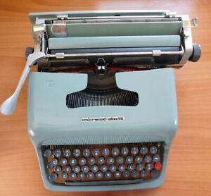 VINTAGE OLIVETTI PORTABLE TYPEWRITER STUDIO 44 WITH CASE