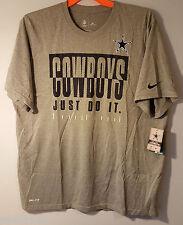 Nike Dri-Fit Dallas Cowboys Legend Just Do It T-Shirt Gray Size Men's XL NWT