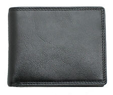 Topsum London Uomini RFID Real Leather Wallet ID finestra, con zip moneta da 4015 Marsupio Nero