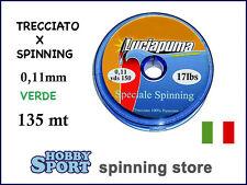 LUCIAPUMA DYNEEMA FILO TRECCIATO 17 LB SPINNING 0,11mm  made in italy