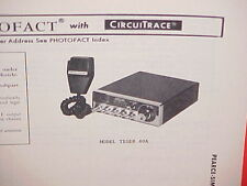 1978 PEARCE-SIMPSON CB RADIO SERVICE SHOP MANUAL MODEL TIGER 40A