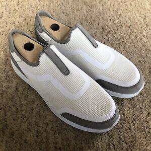 Hush Puppies Men's White Grey Knit Pumps Shoes UK8