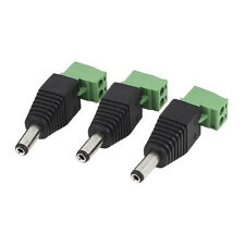 10 DC Power Male Jack 5.5mm X 2.1mm Connector Cable Adapter Plug CCTV DVR Camera