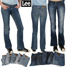 Vintage Lee Jeans Womens Retro 70s Wide Flare Denim Jeans