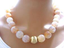 Handgefertigte Modeschmuck-Halsketten & -Anhänger aus Edelsteinen mit Achat