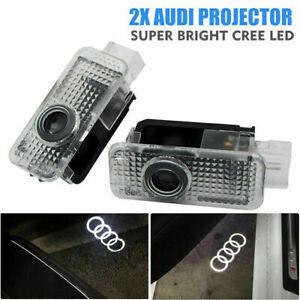 2x AUDI LED Projektor Türbeleuchtung Einstiegsbeleuchtung Logo Licht A3, A4, A6,