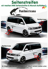 Volkswagen VW T5 PanAmericana mit Kontinent Aufkleber komplett Set Schwarz Matt