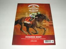 RARE ARROGATE 2016 TRAVERS STAKES PROGRAM SARATOGA HORSE RACING TRACK RECORD