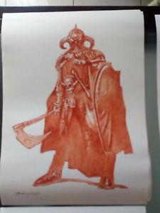 sanjulian - originalzeichnung / seite, death dealer original art