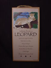 Advice From A Leopard wood Sign wall hanging Novelty Plaque wild big cat animal