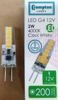 PACKS OF G4 CAPSULE LED 2W 4000K COOL WHITE REPLACES M47 M91 10W 20W 12V 7109