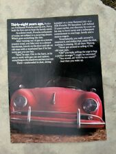 1986 Porsche Cars of North America, Advertising Brochure, 911 Turbo and 928S
