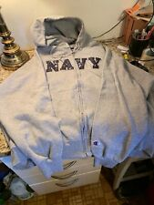 Naval Academy MIDSHIPMEN Champion Navy Zipper Hoodie SWEATSHIRT Size XXL  NEW