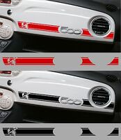 1 BANDE ABARTH RACING TABLEAU DE BORD POUR FIAT 500 AUTOCOLLANT STICKER BD536-4