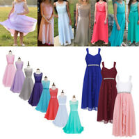 Kids Princess Party Flower Girl Dress Wedding Bridesmaid Prom Gown Long Dresses
