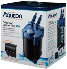 Aqueon QuietFlow Canister Filter 200 GPH, For Up to 55 Gallons