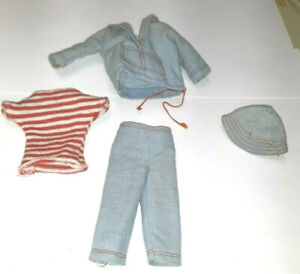 Vintage Barbie SKIPPER Doll #1917 LAND AND SEA TOP W TIE SHIRT PANTS HAT LOT
