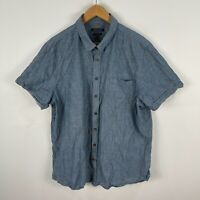 Sportscraft Mens Button Up Shirt 3XL Grey Short Sleeve Collared