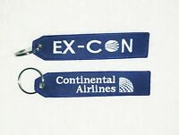 Ex Con bag tag / key chain for Retired Continental Airlines Employees