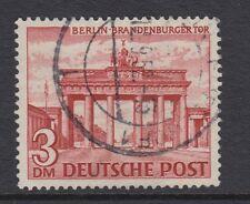 Berlín: 1949 Berlín edificios 3m Marrón-Rojo SGB52 Usado
