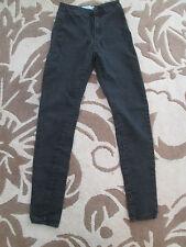 Denim & Co-Nero Cerniera Vita Bassa Super Skinny Jeans Taglia 8