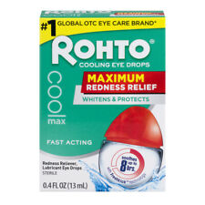 Rohto Cooling Eye Drops Maximum Redness Relief 0.4 fl oz 13 ml EXP: 05/2021