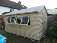 14x10  19mm T&G loglap apex garden shed  (pressure treated) Extra Height