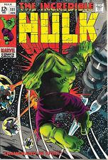 The Incredible Hulk Comic Book #111, Marvel Comics 1969 VERY FINE