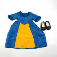 Fit For 18'' American Girl New Felicity's BeForever Meet Dress/Shoes Doll Outfit