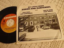 SIMON AND GARFUNKEL MY LITTLE TOWN/RAG DOLL/YOU'RE KIND  W/PICTURE SLEEVE