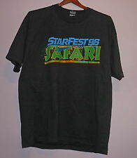 Vintage 90s Starfest Safari Kate Mulgrew Brent Spiner 50/50 T Shirt Black XL