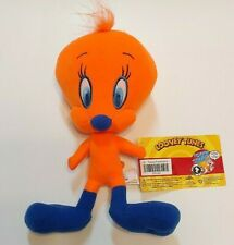 "⭐Tweety Bird Fluorescent Looney Toons 9"" Plush Stuffed Animal Toy Rare"