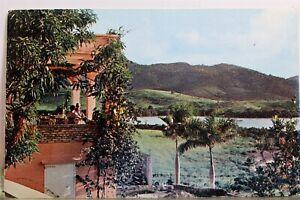 Virgin Islands St Croix Christiansted Buccaneer Hotel Lagoon Terrace Postcard PC
