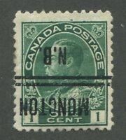 """CANADA PRECANCEL """"MONCTON"""" 1-104-I"""