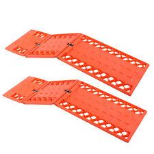Gripmatte, Anfahrhilfe Set 2 Stück Orange klappbar 590x175mm für Wohnmobil, Pkw