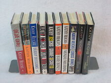 Lot of 10 KATHY REICHS Temperance Brennan Mysteries Books 1-10 1st Editions