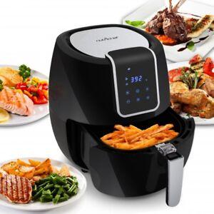 NUTRICHEF PKAIRFR65 Digital Air Fryer Electric Oil-Free w/ Non-Stick Fry Basket