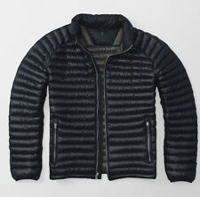 Abercrombie and Fitch Ultra Lightweight Down Navy Puffer Jacket - Small