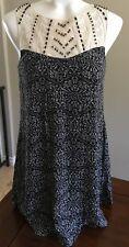 Babydoll Dress Black Embellished Lace Beaded Sleeveless Womens XS by As U Wish