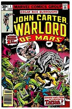 JOHN CARTER WARLORD OF MARS #1 (NM-) Edgar Rice Burroughs 1977 Classic 1st Issue