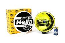 Hella Comet 500 Yellow Spotlight With Bulb Mounting Kit Cap 17.6cm x 6.7cm