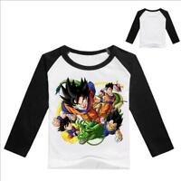 Kid Autumn Boys Japanese Anime Dragon Ball Z Family Children Long Sleeve T-Shirt