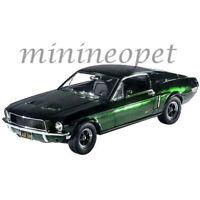 GREENLIGHT 12823 BULLITT STEVE MCQUEEN 1968 FORD MUSTANG GT 1/18 GREEN CHROME