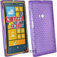 Cubierta De La Caja Para Nokia Lumia 920 Gel De Silicona TPU Viola Diamond